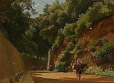 Edvard Petersen: Summer street scene from Italy.