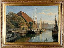 Axel Johansen: View from Frederiksholm's Canal,