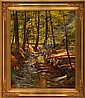 Carl Milton Jensen: Stream through a forest., Milton Jensen, Click for value