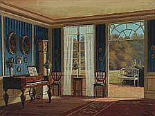 Frederik Wilhelm Svendsen: Interior with a view