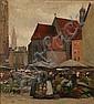 Gustav Vilhelm Blom: Market Scene from Nuremberg., Gustav Vilhelm Blom, Click for value