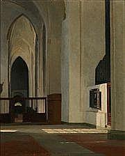 Gustav Vilhelm Blom: The Maria Church in Lübeck.