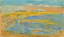 Mogens Hertz : Landscape, Bornholm. Signed Mogens