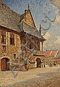 C. M. Soya-Jensen : At a square in Europe., Carl Martin Soya-Jensen, Click for value