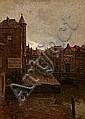 C. M. Soya-Jensen : Canal scene from Holland., Carl Martin Soya-Jensen, Click for value