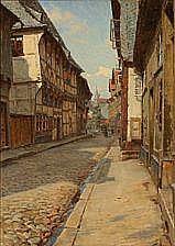 C. M. Soya-Jensen : Danish street scene with a