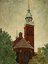 Svend Hammershøi : View from the Church of the