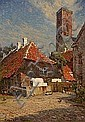 C. M. Soya-Jensen : Houses at Ribe Cathedral,, Carl Martin Soya-Jensen, Click for value