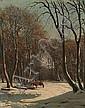 Carl Bartsch: Wintry landscape. Signed C. Bartsch., Carl Frederik Bartsch, Click for value