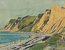 Harald Henriksen: Coastal scenery with dunes.