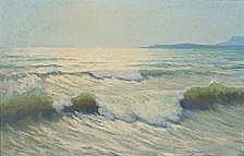 Oscar Matthiesen: Marine, Middelhavet. Signed
