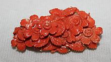 A Large Chinese Coral Combination Brooch /Pendent