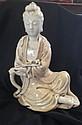 A Chinese Blanc de Chine Figure of Guan Yin, Probably Qing