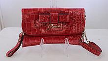A Guess Red Bow Clutch Purse l 19cm