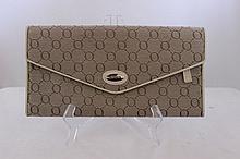 A Tan Oroton Signature Clutch  l 24cm