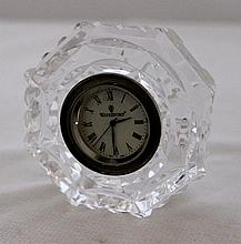 A Waterford Octaganonal Crystal Table Clock