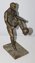 A Bronze Figure Group of Pele , c 1970, modelled