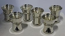 A Set of Six Old Sheffield Reproduction Plate Ale