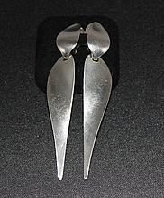 A Pair of Georg Jensen Sterling Silver Suspension