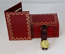 A Boxed Sterling Silver Vermeil Ladies Cartier