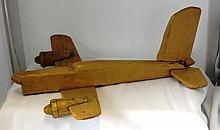 An Australian Folk Art Scale Model of a Plane ,