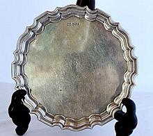 A George V Sterling Silver Waiter, Sheffield 1925, Walker and Hall