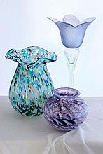 A Selection of Art Glass Vases,