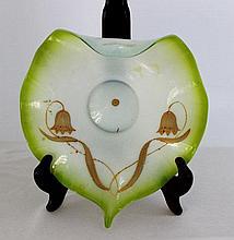 An Art Nouveau Freeform Glass Dish, c 1900