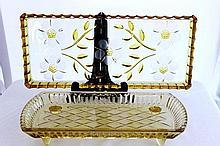 A Citron Flashed Artglass Serving Tray,