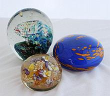 A Selection of Modernist Glass Paperweights,