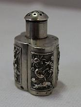 A Chinese Export Silver Pepperette ,