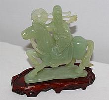 A Chinese Jade Figure Group