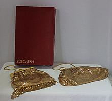 Two Boxed Vintage Glomesh Ladies Evening Bags , c 1960