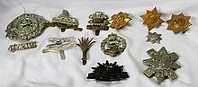 A Selection of Vintage Military Badges,