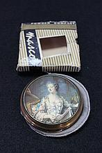 A Vintage Boxed Mascot Powder Compact ,