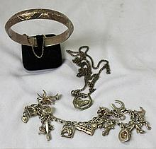 A Selection of Various Silver Jewellery,