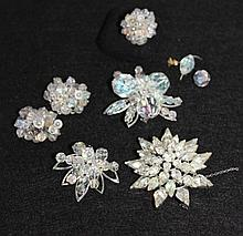 A Vintage Suite of Crystal Set Suite of Jewellery,