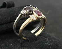A Ladies Yellow Gold Gem Set Dress Ring ,