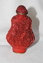 A Chinese Lacquer Snuff Bottle