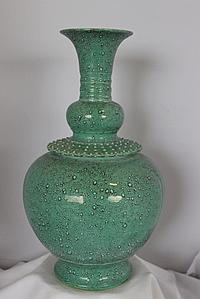 A Large Chinese Robin's Egg Globular Shaped Vase ,
