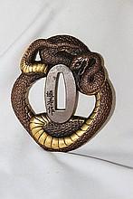 A Japanese Bronze Tsuba,