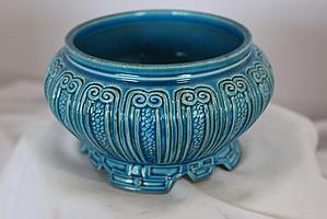 A Chinese Blue Glazed  Brushwasher ,