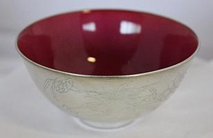 A Chinese Silvered Porcelain Wine Cup,