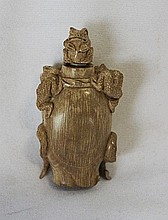 A Chinese Figural Ivory Snuff Bottle