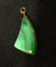 A Chinese Malacite Pendent ,