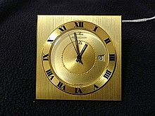A Jaeger le Coultre Gilt 8 Day Clock ,