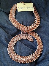 A Pair of Kenyan Congolo Copper Necklaces ,