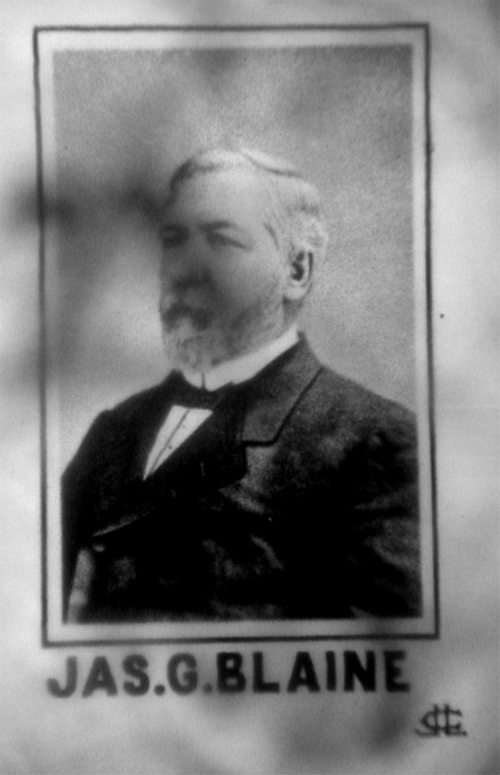 1884 CAMPAIGN PIECE FOR BLAINE
