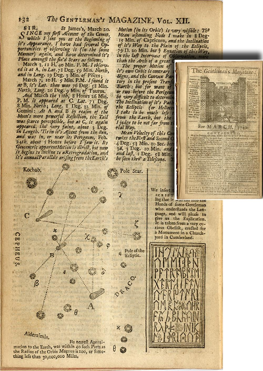 1742 - DEFINING THE POSITION OF THE COMET