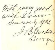 J.B. Gordon Signed Endearment